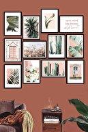 Evdion Renkli 12 Parça Çerçeve Görünümlü Mdf Tablo Seti 60x60 cm