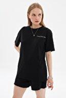 TRENDYOL MAN Siyah Unisex Regular Fit T-Shirt TMNSS21TS3356