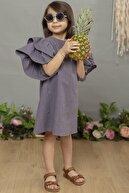 hoQuspoQus Kız Çocuk Elbise Indigo Renk (ham Keten)