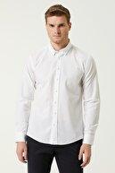 Network Erkek Slim Fit Beyaz Gömlek 1079970
