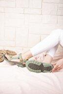 Wenti Shoes Kadın Haki Outdoor Sandalet