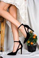LİLLA AYAKKABI Siyah Kadın Stiletto Sivri Ökçe