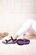 Wenti Shoes Kadın Siyah Lila Taban Outdoor Sandalet Ws 100