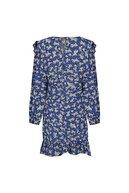 Mudo Çiçekli Bağlama Detaylı Mini Elbise