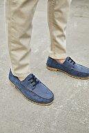 Sateen Men Erkek Indigo Nubuk Ayakkabı