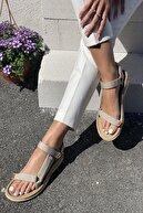 İnan Ayakkabı Kadın Bej Sandalet