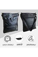 Bag Ard Unisex Hakiki Deri Heybe Fermuarlı Çanta 4005