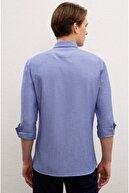 US Polo Assn Sax Mavi Erkek Gömlek