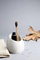 Ghogol Home Eliptik Beton Diş Fırçalık - Kırık Beyaz