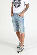 Colin's ERKEK 030 Nelson Orta Bel Orta Anti Fit Mavi Erkek Jean Şort CL1049616
