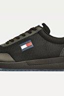 Tommy Hilfiger Erkek Siyah Sneaker Tommy Jeans Flexı Runner EM0EM00490