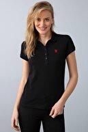 US Polo Assn Kadın Siyah Tshirt
