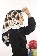 İpekseli Kadın Siyah Violla Rayon Eşarp 12487