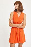 Defacto Belden Bağlama Detaylı Örme Elbise