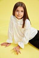 Defacto Kız Çocuk Fırfırlı Yaka Uzun Kollu Bluz