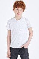 Defacto Erkek Çocuk V Yaka Basic Tişört