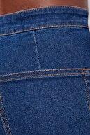 Bershka Kadın Açık Mavi Yüksek Bel Ispanyol Paça Jegging