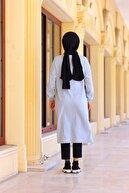 Moylin Kadın Gri Baskılı Uzun Sweatshirt 1621