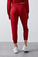 Lela Kadın Kırmızı Belden Bağlamalı Şerit Detaylı Cepli Eşofman Altı Eşofman Altı 5413027