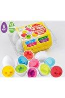 AyasEğiticiOyuncak Circle Toys Baby Puzzle Orman Hayvanları - Geometrik Eğitici Yumurta Bultak 6 Lı