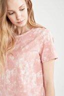 Defacto Kadın Batik Baskılı Relax Fit Tişört Ve Şort Pijama Takımı