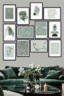 Evdion Çerçeve Görünümlü Mdf Tablo Seti (60x60 Cm) 12'Li