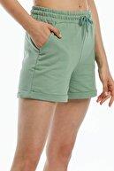 Mossta Kadın Yeşil Kısa Penye Şort
