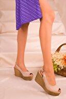 Soho Exclusive Ten Süet Kadın Dolgu Topuklu Ayakkabı 16299