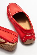 Elle Erkek Kırmızı Deri Günlük Loafer Ayakkabı