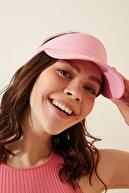 Happiness İst. Kadın Pembe Ayarlanabilir  Bantlı Tenis Şapkası PD00027