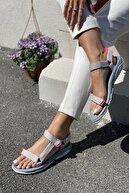 İnan Ayakkabı Kadın Gri Sandalet
