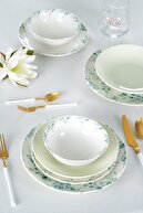 ACAR Manolya 6 Kişilik 24 Parça Porselen Yemek Takımı
