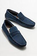 Elle Erkek Lacivert Deri Günlük Loafer Ayakkabı