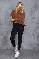 Şans Kadın Siyah Tayt Pantolon 65N24296