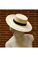 Towdoo Unisex Bej Hasır Şapka