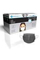 Merand Global 3 Katlı Meltblown-spoundbond Yeni Nesil Cerrahi Maske - 1 Kutu ( Kutu Içi 50 Adet ) - Siyah Renk