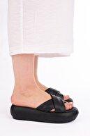 Marjin Kadın Siyah Dolgu Topuklu Terlik