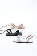 Marjin Kadın İpli Sandalet Oyal Beyaz