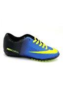 Walked Unisex Çocuk Mavi Halısaha Futbol Spor Ayakkabı