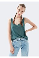 Mavi Lux Touch Yeşil Modal Tişört