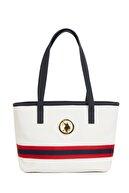 US Polo Assn Beyaz-lacıvert-beyaz Kadın Omuz Çantası Us3124