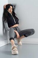 luvishoes Kadın  Bej Bej Rose Bantlı Spor Ayakkabı 65140