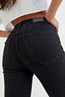 Pull & Bear Kadın Siyah Yüksek Bel Skinny Jean 08681327