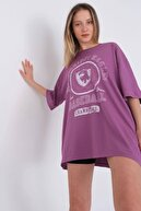 Addax Baskılı Oversize T-shirt P9585