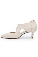 OZ DOROTHY Bej Deri Topuklu Ayakkabı