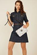 US Polo Assn Beyazlacıvert-lacıvert Kadın Postacı Çantası Us3100