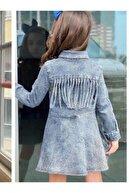 Riccotarz Kız Çocuk Açık Mavi Denim Elbise