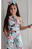 Riccotarz Kız Çocuk Yeşil Tek Omuz Spring Alt Üst Takım