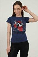 Siya Life Kadın Baskılı Kısa Kol T-shirt