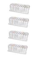 Serstil 4 Adet - Medium 11 Gözlü Çekmece Içi Düzenleyici Organizer 16 X 40 X 12